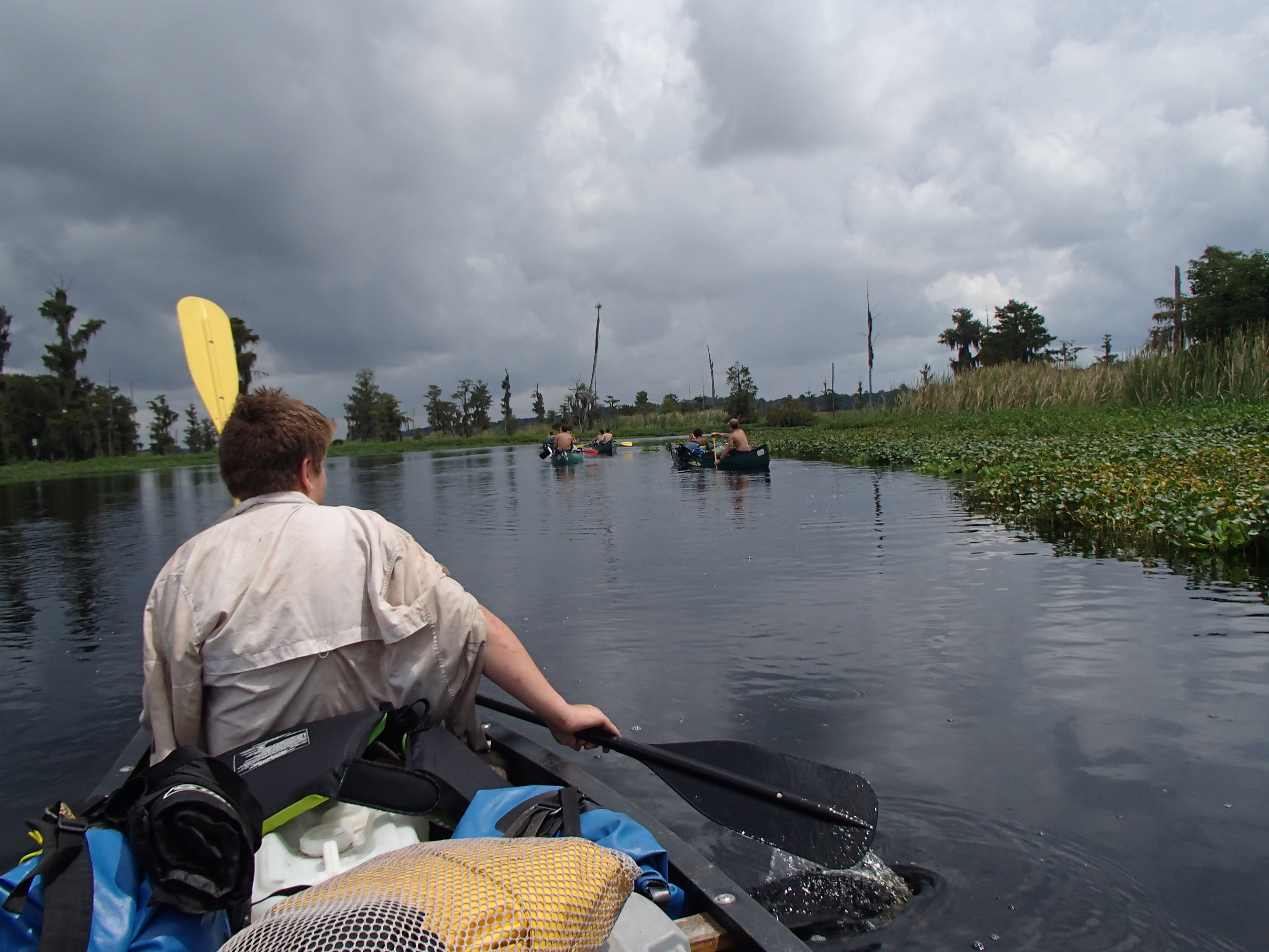 Canoeing on rivers in Florida